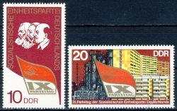 DDR 1976 Mi-Nr. 2123-2124 ** Parteitag der Sozialistischen Einheitspartei Deutschlands