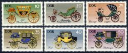 DDR 1976 Mi-Nr. 2147-2152 ** Historische Kutschen