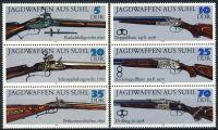 DDR 1978 Mi-Nr. 2376-2381 (ZD) ** Jagdwaffen aus Suhl