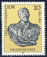 DDR 1981 Mi-Nr. 2579 ** 150. Geburtstag von Heinrich von Stephan
