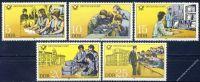 DDR 1981 Mi-Nr. 2583-2587 ** Bildungseinrichtungen der Deutschen Post