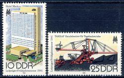 DDR 1981 Mi-Nr. 2593-2594 ** Leipziger Frühjahrsmesse