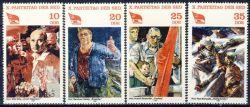 DDR 1981 Mi-Nr. 2595-2598 ** Parteitag der Sozialistischen Einheitspartei Deutschlands