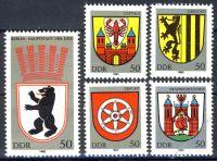 DDR 1983 Mi-Nr. 2817-2821 ** Stadtwappen