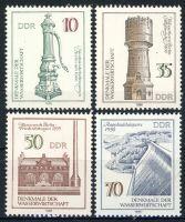 DDR 1986 Mi-Nr. 2993-2996 ** Denkmale der Wasserwirtschaft