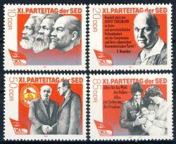 DDR 1986 Mi-Nr. 3009-3012 ** Parteitag der Sozialistischen Einheitspartei Deutschlands