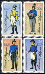 DDR 1986 Mi-Nr. 2997I-3000I ** Historische Postuniformen