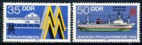 DDR 1986 Mi-Nr. 3003-3004 ** Leipziger Frühjahrsmesse