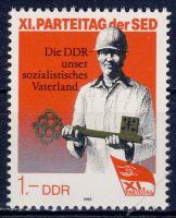 DDR 1986 Mi-Nr. 3013 ** Parteitag der Sozialistischen Einheitspartei Deutschlands