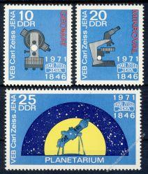 DDR 1971 Mi-Nr. 1714-1716 ** 125 Jahre Carl Zeiss Jena