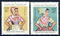 DDR 1971 Mi-Nr. 1723-1724 ** Sorbische Mädchen-Tanztrachten