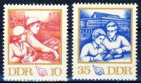 DDR 1972 Mi-Nr. 1761-1762 ** Kongress des Freien Deutschen Gewerkschaftsbundes