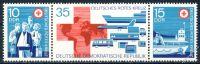 DDR 1972 Mi-Nr. 1789-1791 (ZD) ** Deutsches Rotes Kreuz der DDR