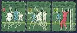 DDR 1974 Mi-Nr. 1928-1930 ** Hallenhandball-Weltmeisterschaft der Männer