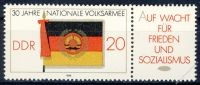 DDR 1986 Mi-Nr. 3001 (ZD) ** 30 Jahre Nationale Volksarmee