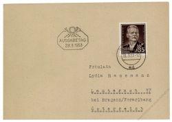 DDR 1953 FDC Mi-Nr. 354 ESt. 85. Geburtstag von Maksim Gorkij