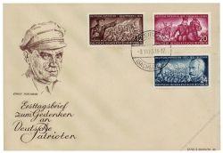 DDR 1953 FDC Mi-Nr. 398-403 ESt. Deutsche Patrioten