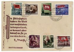 DDR 1953 FDC Mi-Nr. 344-353 ESt. 70. Todestag von Karl Marx