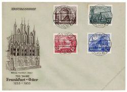 DDR 1953 FDC Mi-Nr. 358-361 ESt. 700 Jahre Stadt Frankfurt/Oder