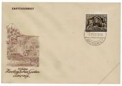 DDR 1953 FDC Mi-Nr. 397 ESt. 75 Jahre Leipziger Zoo
