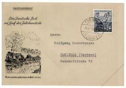 DDR 1953 FDC Mi-Nr. 396 ESt. Tag der Briefmarke
