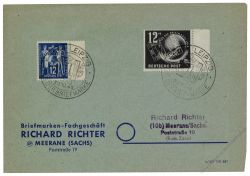DDR 1949 FDC Mi-Nr. 245 SSt. Tag der Briefmarke
