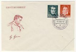 DDR 1956 FDC Mi-Nr. 516-517 SSt. 100. Todestag von Heinrich Heine
