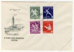 DDR 1956 FDC Mi-Nr. 530-533 SSt. Deutsches Turn- und Sportfest