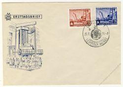 DDR 1956 FDC Mi-Nr. 518-519 SSt. Leipziger Frühjahrsmesse