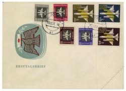 DDR 1957 FDC Mi-Nr. 609-615 ESt. Flugpostmarken