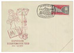 DDR 1959 FDC Mi-Nr. 712 SSt. Leipziger Herbstmesse