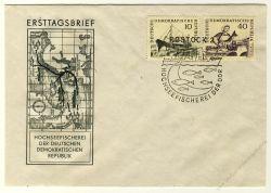DDR 1961 FDC Mi-Nr. 817-820 SSt. Hochseefischerei