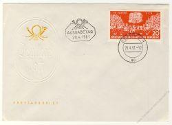 DDR 1961 FDC Mi-Nr. 821 ESt. 15 Jahre SED