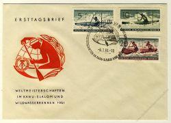 DDR 1961 FDC Mi-Nr. 838-840 SSt. Weltmeisterschaften im Kanuslalom und Wildwasserrennen