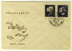 DDR 1961 FDC Mi-Nr. 857-860 SSt. 150. Geburtstag von Franz Liszt