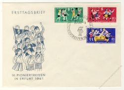 DDR 1961 FDC Mi-Nr. 827-829 SSt. Pioniertreffen