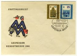 DDR 1961 FDC Mi-Nr. 843-844 SSt. Leipziger Herbstmesse