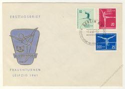 DDR 1961 FDC Mi-Nr. 830-832 SSt. Kunstturn-Europapokal der Frauen