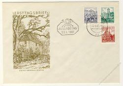 DDR 1961 FDC Mi-Nr. 835-837 ESt. Landschaften und historische Bauten