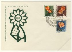 DDR 1961 FDC Mi-Nr. 854-856 SSt. Internationale Gartenbauausstellung