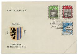 DDR 1962 FDC Mi-Nr. 913-915 SSt. Leipziger Herbstmesse