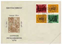 DDR 1964 FDC Mi-Nr. 1012-1013 (ZD) SSt. Leipziger Frühjahrsmesse