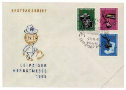 DDR 1965 FDC Mi-Nr. 1130-1132 SSt. Leipziger Herbstmesse