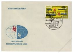 DDR 1963 FDC Mi-Nr. 976-977 (ZD) SSt. Leipziger Herbstmesse