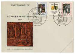 DDR 1964 FDC Mi-Nr. 1052-1053 (ZD) SSt. Leipziger Herbstmesse