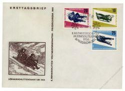 DDR 1966 FDC Mi-Nr. 1156-1158 SSt. Rennrodel WM in Friedrichroda