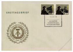 DDR 1966 FDC Mi-Nr. 1161-1164 SSt. 10 Jahre Nationale Volksarmee (NVA)