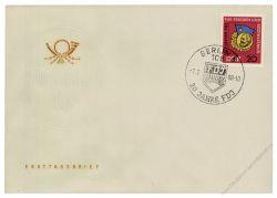 DDR 1966 FDC Mi-Nr. 1167 SSt. 20 Jahre Freie Deutsche Jugend (FDJ)