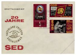 DDR 1966 FDC Mi-Nr. 1173-1177 SSt. 20 Jahre SED