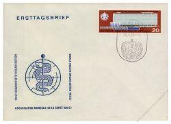 DDR 1966 FDC Mi-Nr. 1178 SSt. Einweihung des neuen Verwaltungsgebäudes der WHO